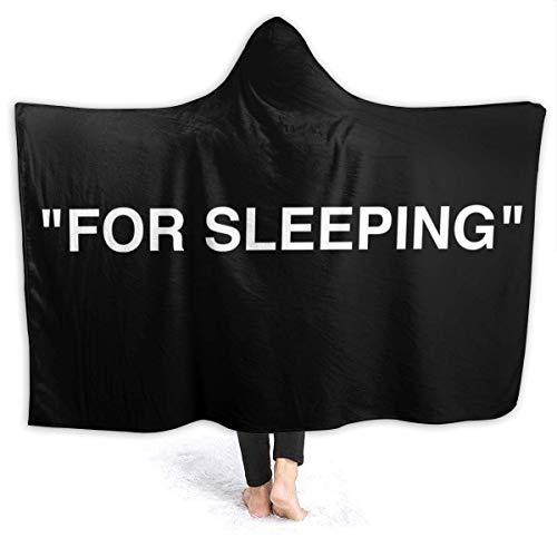 maichengxuan Manta con Capucha 3D for Sleeping Logo Super Soft Sherpa Fleece Blanket 60'x50'