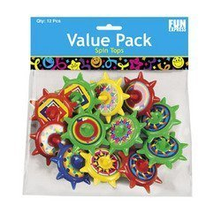Great Features Of STAR SPIN TOPS (6 DOZEN) - BULK
