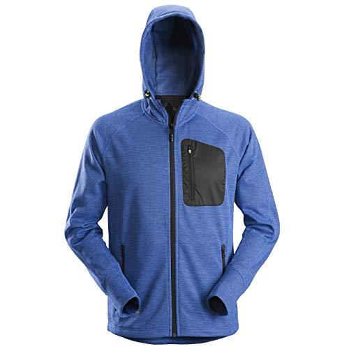 Snickers Mens Workwear Zip Through Fleece Hoodie Blue/Black 8041-S