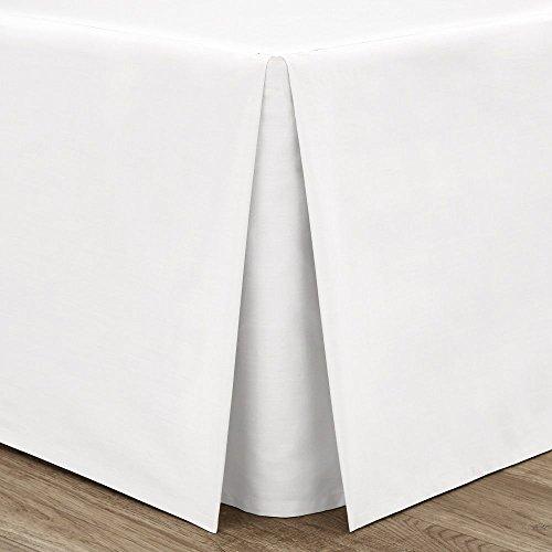 Catherine Lansfield Bügelfreier Volant für King-Size-Betten, Perkal/Polycotton, Weiß