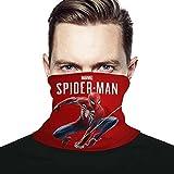 3d Rose Marvels Spider Man calentador de cuello a prueba de sol, tubo de polaina de cuello, pasamontañas elástico suave, medio unisex, a prueba de viento, para esquí de invierno