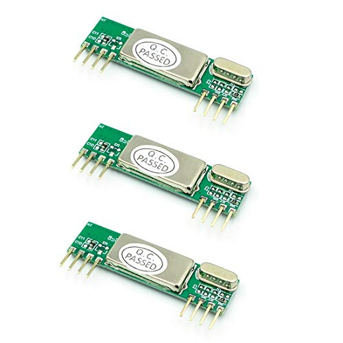 HiLetgo 3pcs RXB6 433MHz Superheterodyne Wireless Receiver Module for Arduino/Arm/AVR