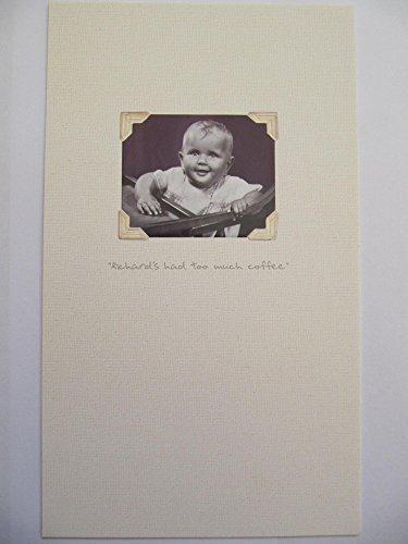 BRILLIANT RICHARDS had te veel koffie FUNNY BLANK BIRTHDAY GREETING CARD