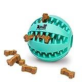 pretty petZ® Hundeball mit Zahnpflege-Funktion Noppen aus Naturkautschuk   Robuster Hunde Ball Ø 7cm   Hundespielball für Große & Kleine Hunde   Kauspielzeug aus Naturgummi für Leckerli