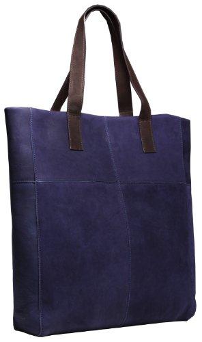 Burkely Leder Tasche Shopper blau