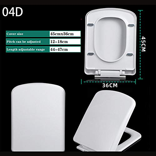 Asiento del inodoro, beige blanco no amarillo suave apagado WC avanzado resistente a los arañazos blanco, tapa del inodoro del baño