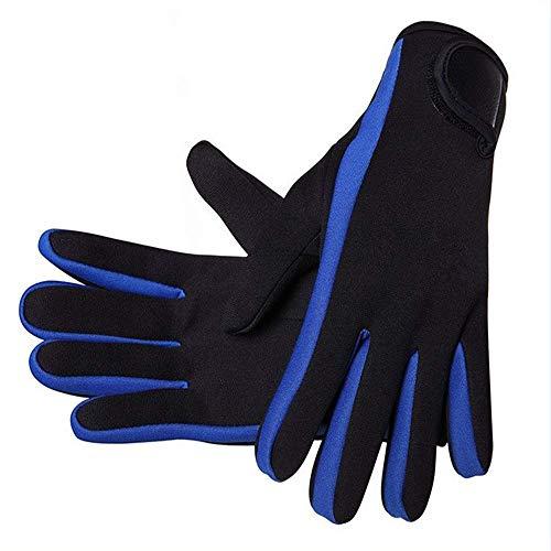 Guantes de neopreno de 1,5 mm. Guantes de neopreno de cinco dedos. Antideslizantes. Cómodos para hombres y mujeres. Adecuados para el buceo, canotaje, surf, deportes acuáticos, natación.
