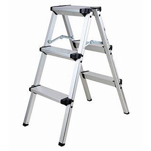 YYTY12 Liegestuhl Trittleiter Doppelseitig Aluminium Kunststoff Doppelseitig Anti-Rutsch-Falten Einfach zu Hause Küche Garage zu speichern (Color : A, Size : C)