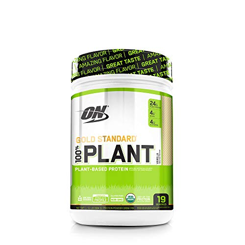 OPTIMUM NUTRITION GOLD STANDARD 100% Organic Plant Based Protein Powder, Vanilla, 19 Servings