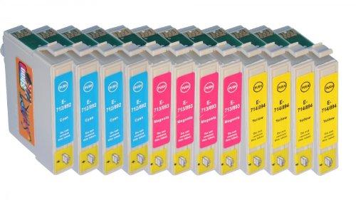 START 12 XL kompatible Tintenpatronen als Ersatz für Epson T0712, T0713, T0714 (4xCyan 4xMagenta 4xGelb) Druckerpatronen (444)