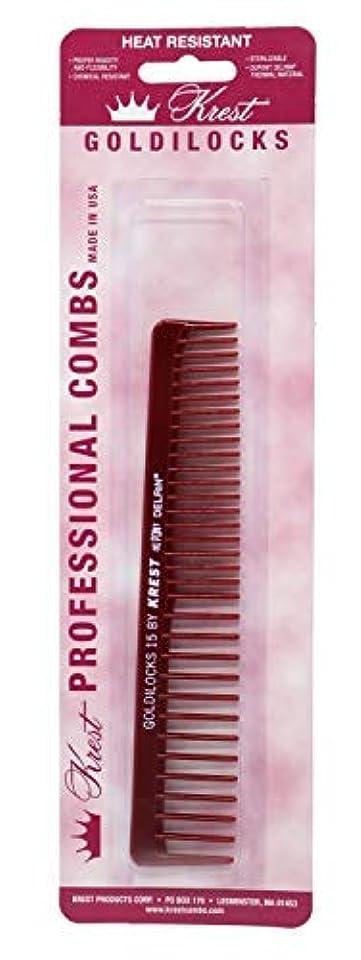 Krest Combs Goldilocks Volume/Space Tooth Comb 6 1/2 - G15 by Krest [並行輸入品]