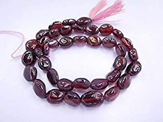"Jewel Beads Natural Beautiful jewellery Natural Red Garnet Gemstone Smooth Finished Oval Beads 13"" Strand 5X7-8X11 MMCode:- JBB-18678"