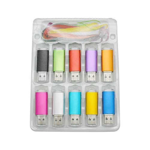 8 Go Lot de 10 Clés USB 2.0 Pivotant Stockage Mémoire Stick Disque Flash USB Multicolore (8GB*10PCS)
