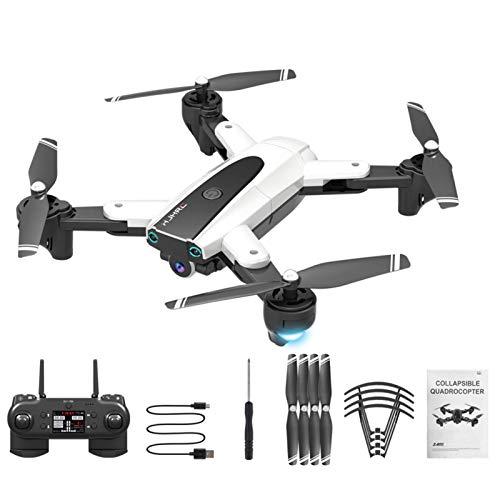 HJ18 Mini Drone,1080P 4K RC Quadcopter, FPV WiFi Plegable con Control de Voz,Control de Gestos,Trayectoria de Vuelo,Vuelo Circular, Rotación de Alta Velocidad,Gesture Photos/Video RC Quadcopter