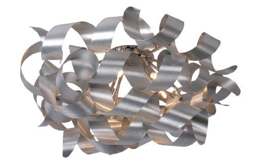 Lucide ATOMA - Plafonnier - Ø 70 cm - G9 - 6x33W 2700K - Chrome Dépoli