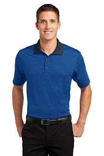 Port Authority® Fine Stripe Performance Polo. K558 Seaport Blue/ Dress Blue Navy