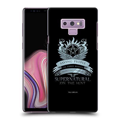 Head Case Designs Offizielle Supernatural Saving People Logo Vektoren Harte Rueckseiten Handyhulle Hulle Huelle kompatibel mit Samsung Galaxy Note9 Note 9