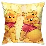 LIUYAN Funda de cojín de Winnie Pooh, funda de almohada decorativa para sofá, asiento de coche, funda de almohada suave de 45,7 x 45,7 cm