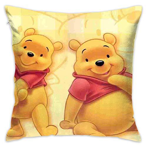 LIUYAN Funda de Almohada Funda de cojín Winnie Pooh Decorativo Funda de Almohada sofá Asiento Coche Funda de Almohada Suave 18 x 18 Pulgadas