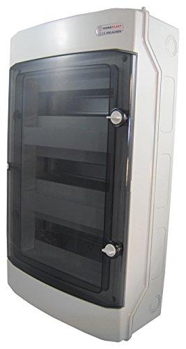 Sicherungskasten Aufputz IP65 Feuchtraum Gehäuse Verteiler Kleinverteiler 2 reihig 24 Module (3-reihig 36 Module)