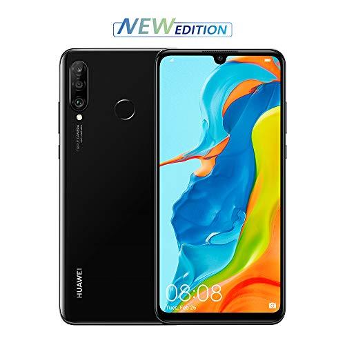 Huawei P30 Lite New Edition (Black) Smartphone + cover. Memoria più ampia da 6GB + 256GB e nuova Fotocamera anteriore 32 MP. Tripla Fotocamera Posteriore da 48+8+2 MP, [Versione Italiana]