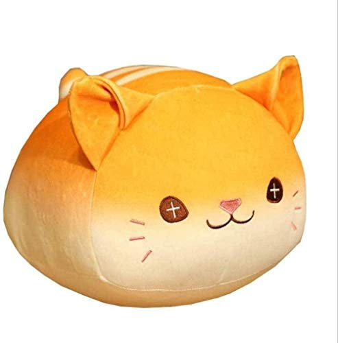 NC87 Amortiguador de Animales de Gato Gordo con Cola, cojín de Respaldo para niños, Forma de Gato Creativo, Dormitorio, Sala de Estar, Regalos de juguete-30cm