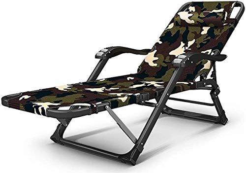 Tumbona Plegable, Sofá Plegable Cama tumbonas de Gran tamaño, Respaldo Ajustable reclinable de Playa sillón de Playa Acolchado Cero sillas de Gravedad Tumbona,Tumbonas