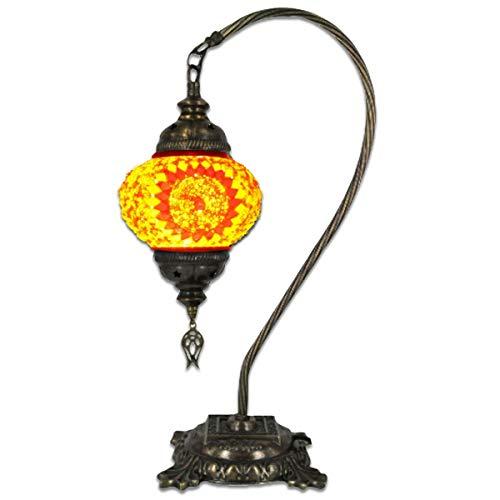 """Turkish Mosaic Camel Neck Lamp - 8.75""""x16.25"""" - DB2 - Orange"""