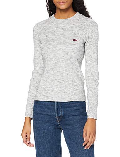Levi's Women's Crew Rib Sweater, Thunder Space Dye, M
