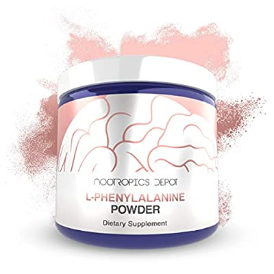 L-Phenylalanine Powder 250 Grams   Essential Amino Acid Supplement   Supports Mood and Healthy Cognitive Function