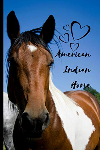 American Indian Horse Notebook For Horse Lovers: Composition Notebook 6x9' Blank Lined Journal