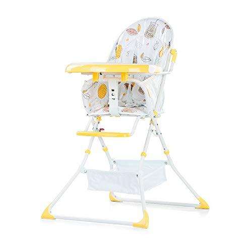 Chipolino Hochstuhl klappbar Maggy Tisch ausfahrbar, Ablagekorb, Gurt gelb