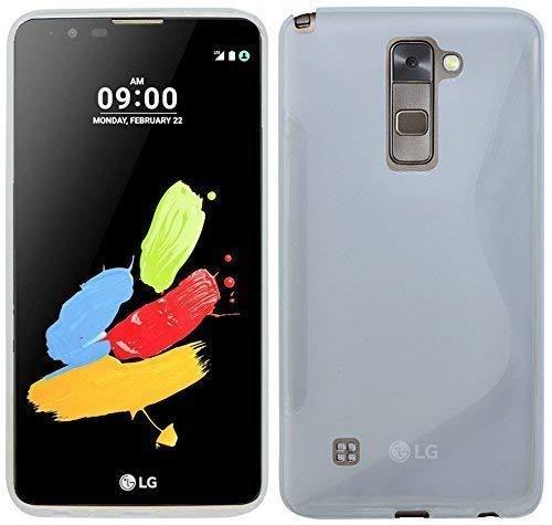 ENERGMiX Silikon Hülle kompatibel mit LG Stylus 2 Tasche Bumper Silikonschale Silikonschutz Hülle Gummi Schutzhülle Zubehör in Transparent
