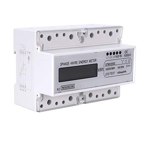 Shumo Dreiphasen 7P LCD Display 3XAC220 / 380V 50Hz DIN Schienen Digital Meter Leistung Messer KWh Meter Wattmeter