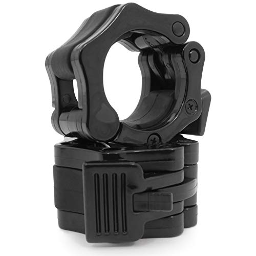 ProsourceFit Olympic Barbell Clamp Collars - Black