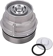 Oil Filter Housing Cap Assembly 15620-31060 for Toyota Tundra RAV4 4Runner Camry Highlander Tacoma Avalon Sienna Venza Lexus RX350 Replace 1562031060 15643-31050 Oil Filter Housing Caps with Oil Plug