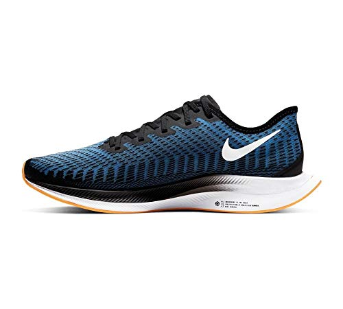 Nike Men's Zoom Pegasus Turbo 2 Running Shoes Black/White-University Blue-Laser Orange 10.5