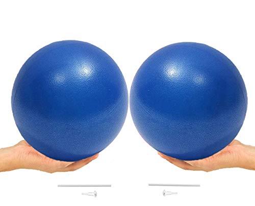 ONET Gymnastikball, Gymnastikball Klein 25cm, 2pcs Pilates Ball Übung Ball, Yogaball Gymnastikbälle mit Pumpe, Rutschfester Superleichter Gymnastikball, Gymnastikball für Yoga, Heim, Büro, Sitzball