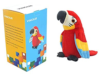 vincilee Talking Parrot No Matter What You Say Will Repeat What You Say Funny Learning Good Helper Bring You Happiness Parrot Toys Speaking Parrot Multifunctional Electric Plush Parrot Speaking