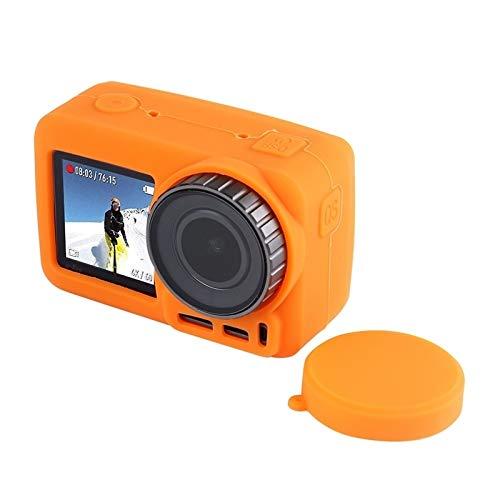 N / A Cámaras de Acción Accesorios De Silicona Protectora con Tapa, Conveniente for el dji Osmo Acción (Color : Orange)