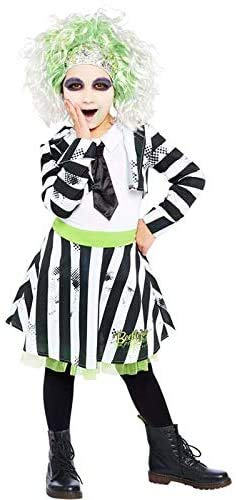 Child's Beetlejuice Halloween Costume in four sizes for ages 4 to 12 years