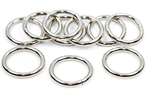 Rundringe O Ringe 10 Stück 20mm vernickelt