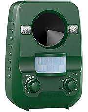 AngLink 猫よけ 威力アップグレード 超音波 猫撃退 85%以上2~3週間被害から解放 猫退治 ソーラー式 と USB充電 動物撃退器 防滴 日本語マニュアル