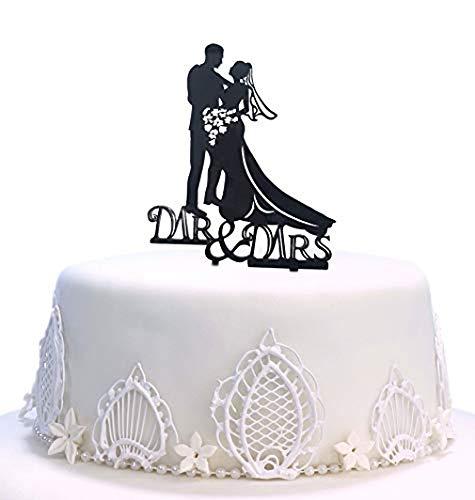 Decoración para tarta de boda Mr & Mrs, acrílico duro, bricolaje, boda, novia, novio, decoración de pasteles, palillos de aperitivos, accesorios para fiesta de boda
