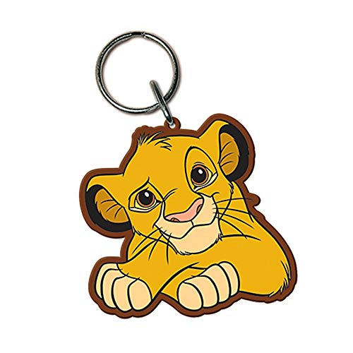 Genuine Disney The Lion King Simba Rubber Keyring Key Fob