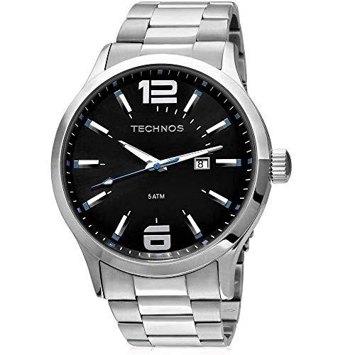 Relógio Technos, Pulseira de Aço Inoxidável, Masculino Prata 2115GU/1A