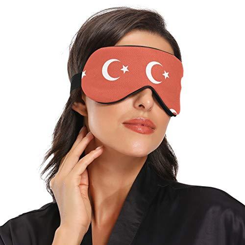 Máscara para dormir con bandera de Turquía, para dormir por la noche, viajes, siesta