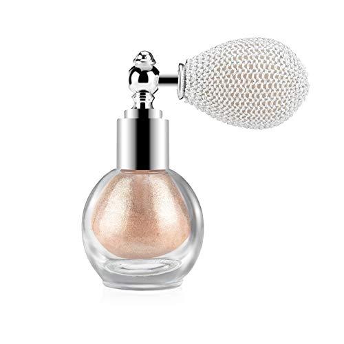 Freeorr Highlighter Powder Spray, Glitter Puder Setting Spray, Beauty Shimmer Sparkle Puder Makeup Spray, für Glow Face Körper Sparkle Powder Cosmetic-Champagne