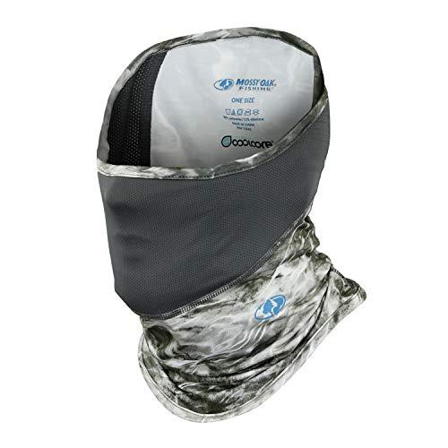 Mossy Oak Neck Gaiter, Elements Fishing Mask with Breathable Mesh & UPF Protection, Manta, One Size