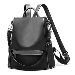 41GPhMU2oWL. SS300  - Swonuk Mochila para Mujer Oxford/PU, Antirrobo Bolsa de Mano Impermeable portatil backpack bolsa para trabajo, viaje, escuela, citas, compras